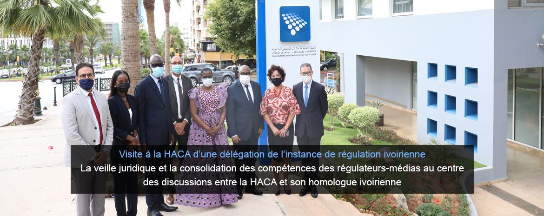 Visite à la HACA d'une délégation de l'instance de régulation ivoirienne La veille juridique et la consolidation des compétences des régulateurs-médias au centre des discussions entre la HACA et son homologue ivoirienne