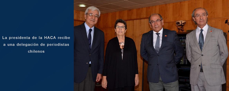 La presidenta de la HACA recibe a una delegación de periodistas chilenos
