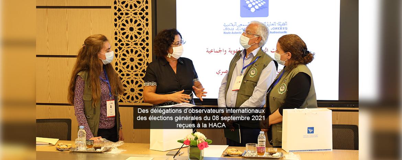 Des délégations d'observateurs internationaux  des élections générales du 08 septembre 2021 reçues à la HACA