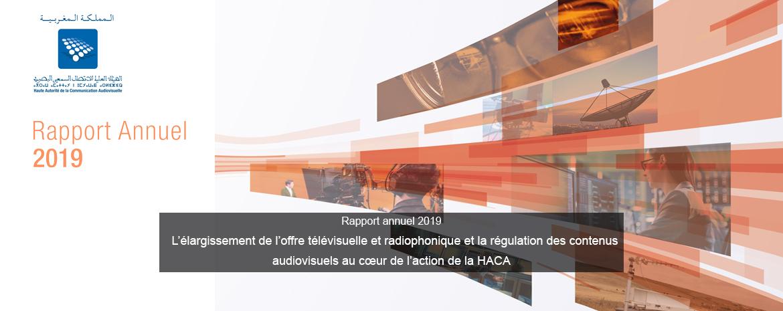 Selon son rapport annuel 2019  L'élargissement de l'offre télévisuelle et radiophonique et la régulation des contenus audiovisuels au cœur de l'action de la HACA