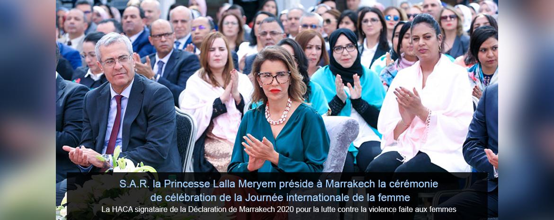 La HACA signataire de l'Appel de Marrakech 2020 pour la lutte contre la violence faite aux femmes
