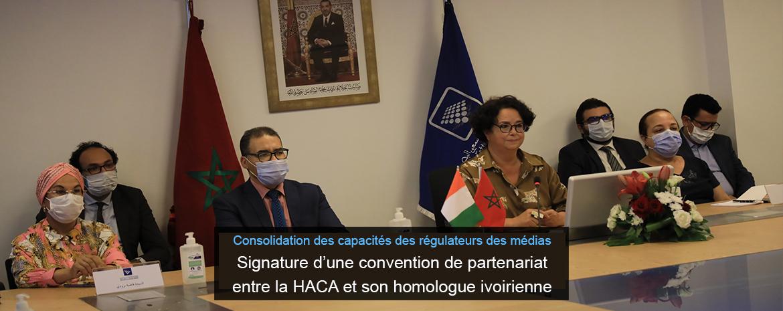 Consolidation des capacités des régulateurs des médias Signature d'une convention de partenariat entre la HACA et son homologue ivoirienne