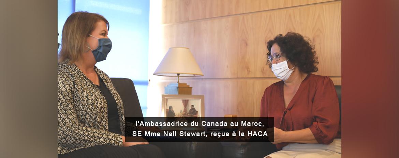 l'Ambassadrice du Canada au Maroc, SE Mme Nell Stewart, reçue à la HACA