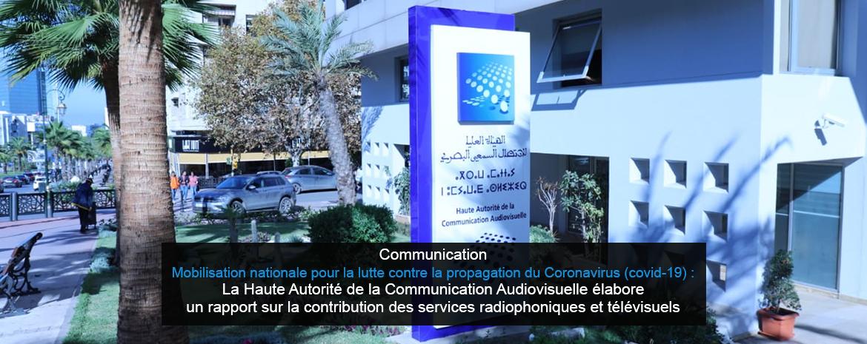 Communication - Mobilisation nationale pour la lutte contre la propagation du Coronavirus (covid-19) :  La Haute Autorité de la Communication Audiovisuelle élabore un rapport sur la contribution des services radiophoniques et télévisuels