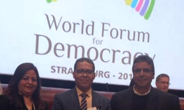 La Haute Autorité présente au « Forum Mondial de la Démocratie » organisé par le Conseil de l'Europe
