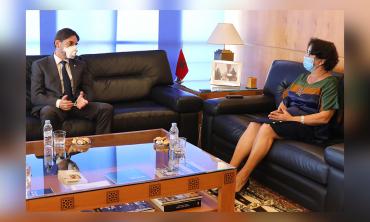رئيسة الهيأة العليا للاتصال السمعي البصري تجري محادثات مع سفير بلغاريا بالمغرب