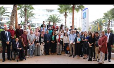Les étudiants du master Métiers et Pratiques Médias de l'université Ibn Zohr à Agadir en visite d'information à la HACA