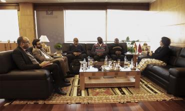 السيدة لطيفة أخرباش رئيسة الهيأة العليا للاتصال السمعي البصري تستقبل رئيس اللجنة الوطنية للإعلام بغانا