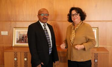 Mme Latifa Akharbach, Présidente de la HACA, reçoit le Président du Conseil National de la Presse et l'Audiovisuel de l'Union des Comores