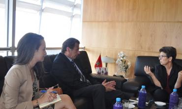La presidenta de la HACA recibió el nuevo jefe de la Oficina del Consejo de Europa en Rabat