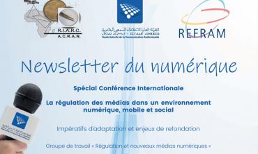La conférence internationale sur le thème: la régulation des médias dans un environnement numérique, mobile et socialUn numéro spécial de la Newsletter du numérique élaboré par le groupe de travail «Régulation et nouveaux médias numériques»