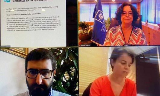 « La pandémie de Covid 19 a rappelé la grande utilité sociale des médias »  Mme Akharbach à l'Assemblée Plénière du Réseau des Instances de Régulation Méditerranéennes