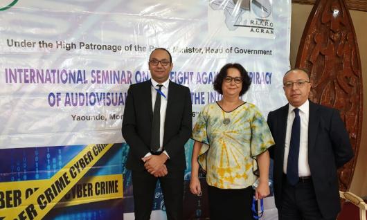 La présidente de la Haca au séminaire organisé à Yaoundé les 25 et 26 novembre par le RIARC « Le renforcement des capacités de production nationale de qualité est la réponse pérenne au phénomène de piratage des œuvres et des services audiovisuels»