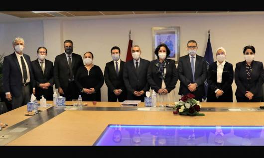 Le Conseil Supérieur de la Communication Audiovisuelle s'est réuni le 27 jan avec M. Hassan Khiyar PrésidentDirecteur Généralde Medi 1 TV et Radio Méditerrané Internationale et M. Yassine Aouni Directeur Adjoint Etudes et Partenariatsà Medi 1 TV