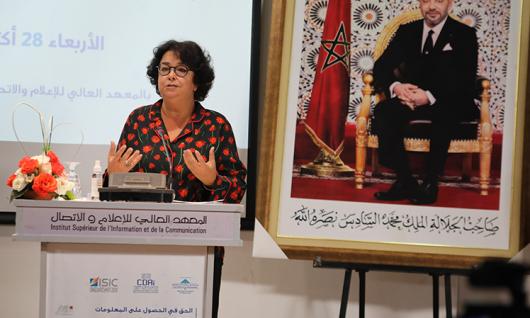 « Les médias peuvent avoir une contribution conséquente à l'effectivité du droit d'accès à l'information »  Mme Latifa Akharbach au séminaire sur Le droit d'accès à l'information  et l'apport des médias nationaux