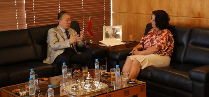 رئيسة الهيأة العليا تجري محادثات مع السيد لي لي سفير جمهورية الصين بالمغرب