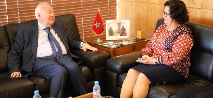 رئيسة الهيأة العليا للاتصال السمعي البصري تستقبل السيد ميغيل أنخيل موراتينوس الممثل السامي للأمم المتحدة لتحالف الحضارات