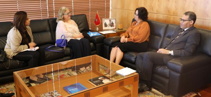 La présidente de la HACA s'entretient avec Mme Golda El Khoury, Directrice du Bureau de l'UNESCO à Rabat
