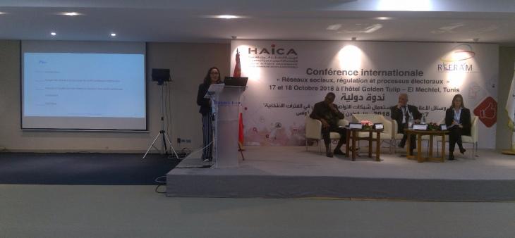 """La HACA participa en la conferencia internacional sobre """"Redes sociales, regulación y procesos electorales"""""""