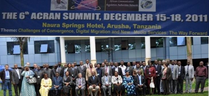 الهيئة العليا للاتصال السمعي البصري تترأس القمة السادسة لهيئات ضبط الاتصال الإفريقية وتقدم حصيلة رئاستها للشبكة الإفريقية بأروشا تنزانيا من 15 إلى 18 دجنبر 2011