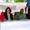 Mme Latifa Akharbach reçue par le Premier ministre burkinabè  après la cérémonie de signature, à Ouagadougou, d'un Accord de partenariat entre la HACA et son homologue du Burkina Faso