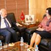 La Présidente de la HACA reçoit M. Miguel Angel Moratinos, Haut Représentant des Nations Unies pour l'Alliance des Civilisations