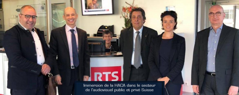 Immersion de la HACA dans le secteur de l'audiovisuel public et privé Suisse