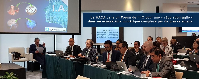 La Haca dans un Forum de l'IIC pour une « régulation agile »  dans un écosystème numérique complexe par de graves enjeux