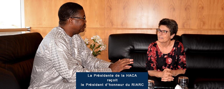 La Présidente de la HACA reçoit le Président d'honneur du RIARC