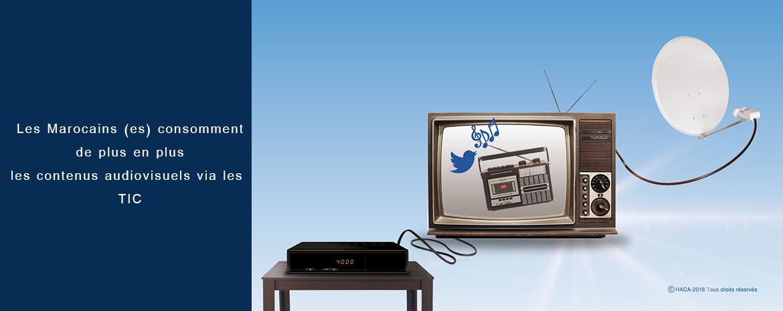 Les Marocains (es) consomment de plus en plus  les contenus audiovisuels via les TIC
