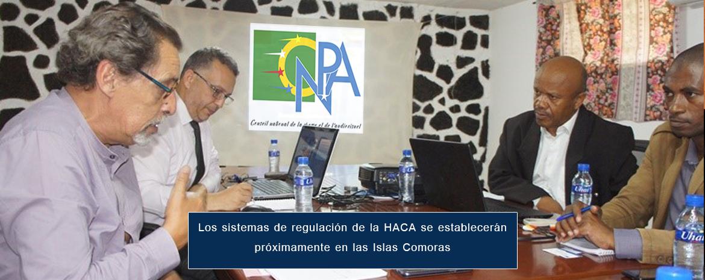Los sistemas de regulación de la HACA se establecerán próximamente en las Islas Comoras