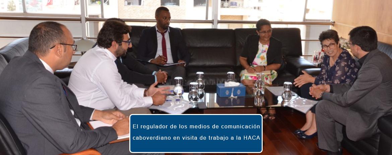 El regulador de los medios de comunicación caboverdiano en visita de trabajo a la HACA