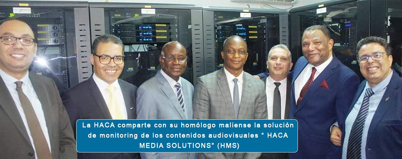 """La HACA comparte con su homólogo maliense la solución de monitoring de los contenidos audiovisuales """" HACA MEDIA SOLUTIONS"""" (HMS)"""