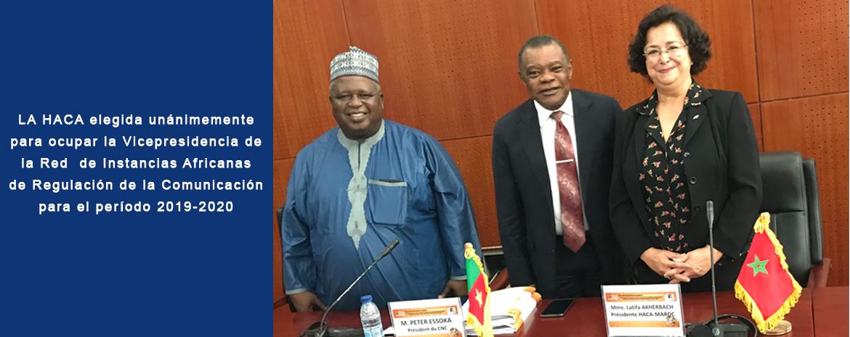 LA HACA elegida unánimemente para ocupar la Vicepresidencia de la Red  de Instancias Africanas de Regulación de la Comunicación para el período 2019-2020