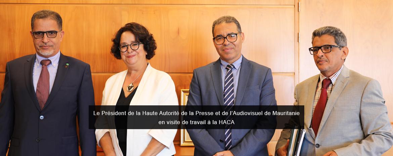 Le Président de la Haute Autorité de la Presse et de l'Audiovisuel de Mauritanie en visite de travail à la HACA