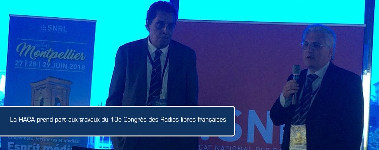 La HACA prend part aux travaux du 13e Congrès des Radios libres françaises