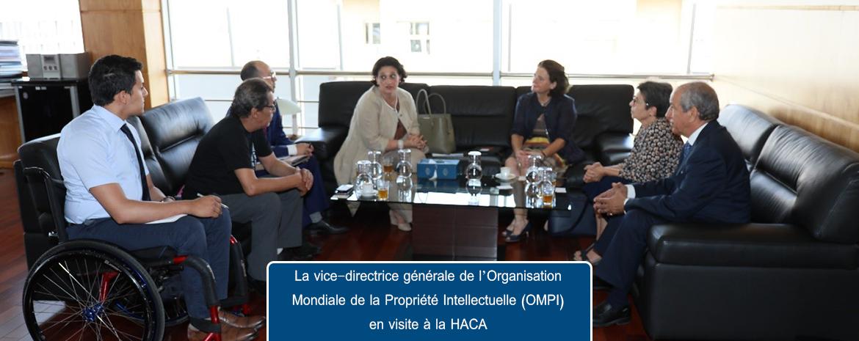 La vice-directrice générale de l'Organisation Mondiale de la Propriété Intellectuelle (OMPI) en visite à la HACA