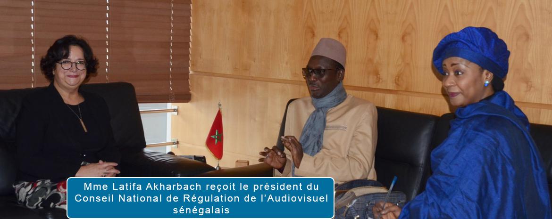 Mme Latifa Akharbach reçoit le président du Conseil National de Régulation de l'Audiovisuel sénégalais