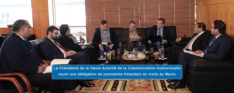 La Présidente de la Haute Autorité de la Communication Audiovisuelle reçoit une délégation de journalistes finlandais en visite au Maroc
