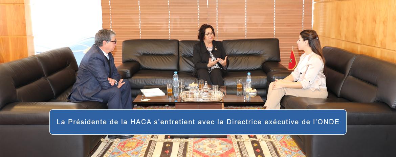 La Présidente de la HACA s'entretient avec la Directrice exécutive de l'ONDE