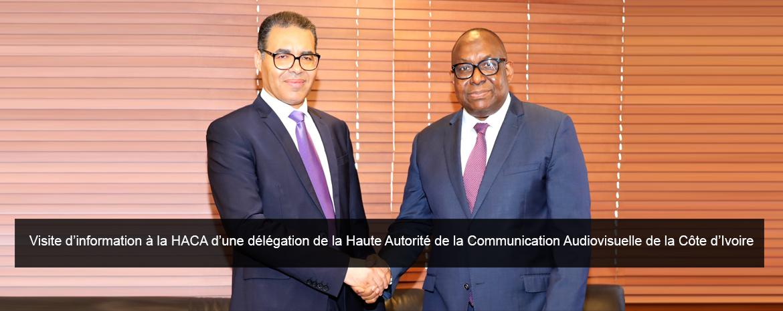 Visite d'information à la HACA d'une délégation de la Haute Autorité de la Communication Audiovisuelle de la Côte d'Ivoire