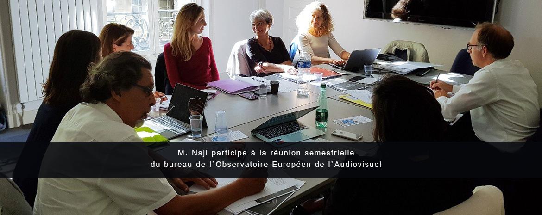 M. Naji participe à la réunion semestrielle du bureau de l'Observatoire Européen de l'Audiovisuel