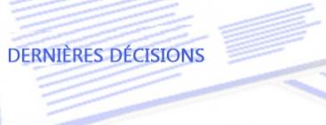 Dernières décisions