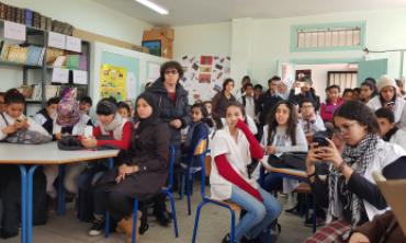 La Présidente de la HACA rencontre les élèves  du collège Imam Boukhari de Rabat