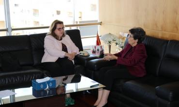 رئيسة الهيأة العليا للاتصال السمعي البصري تستقبل المديرة الجديدة لمكتب اليونسكو بالرباط