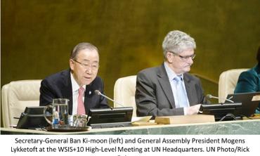 L'ONU célèbre le 10ème anniversaire du lancement de la « société de l'information » en l'intégrant dans l'« Agenda 2030 du développement durable ».