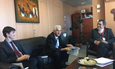 M. J.E NAJI reçu au siège central de l'UNESCO par l'adjoint à la Directrice Générale, Mme Audrey Azoulay.