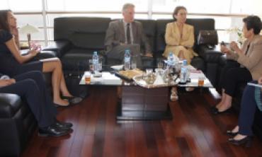 Les Représentants de l'UNESCO et de l'ONU Femmes au Maghreb reçus par la Présidente de la HACA