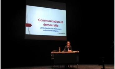 Intervention de M. Jamal Eddine Naji à l'UQAM – Canada : communication et démocratie