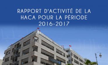 La HACA publie son rapport d'activité pour la période 2016-2017